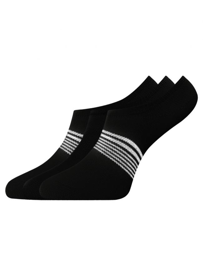 Комплект из трех пар носков oodji для женщины (разноцветный), 57102602-1T3/48022/34