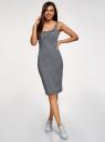 Платье-майка трикотажное oodji для женщины (синий), 14015007-8B/46944/7912S