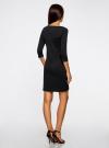 Платье трикотажное с рукавом 3/4 oodji #SECTION_NAME# (черный), 24001100-3/45284/2900N - вид 3