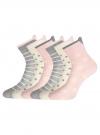 Комплект хлопковых носков (6 пар) oodji для женщины (разноцветный), 57102802-3T6/47613/23 - вид 2