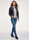 Куртка стеганая с круглым вырезом oodji для женщины (черный), 10203050-2B/47020/2900N - вид 6