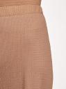 Брюки широкие с поясом на резинке oodji для женщины (бежевый), 18601020/50539/3500N