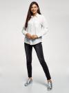 Блузка прямого силуэта с нагрудным карманом oodji #SECTION_NAME# (белый), 11411134B/46123/1229Q - вид 6
