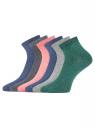 Комплект укороченных носков (6 пар) oodji #SECTION_NAME# (разноцветный), 57102418T6/47469/55 - вид 2