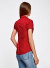Рубашка с V-образным вырезом и отложным воротником oodji #SECTION_NAME# (красный), 11402087/35527/4500N - вид 3