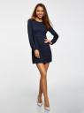 Платье принтованное с молнией на спине oodji для женщины (синий), 21900333/43299/7910D