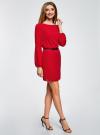 Платье из шифона с ремнем oodji для женщины (красный), 11900150-5B/32823/4500N - вид 6