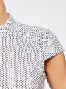 Рубашка с коротким рукавом из хлопка oodji #SECTION_NAME# (белый), 11403196-3/26357/1079G - вид 5