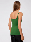Топ трикотажный на тонких бретелях oodji для женщины (зеленый), 14305023-4B/45297/6E00N - вид 3