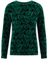 Свитшот с принтом из флока oodji для женщины (зеленый), 14801043-1/45996/6E29E
