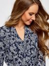 Блузка вискозная прямого силуэта oodji для женщины (синий), 21400394-1B/24681/7920E - вид 4