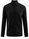 Рубашка хлопковая в мелкую графику oodji #SECTION_NAME# (черный), 3L110275M/44425N/2923G