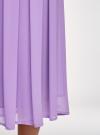 Юбка в складку из струящейся ткани oodji #SECTION_NAME# (фиолетовый), 23G00009-2B/45193/8001N - вид 4