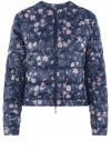 Куртка стеганая с круглым вырезом oodji #SECTION_NAME# (синий), 10203072B/42257/7919F