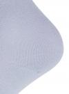 Комплект из трех пар хлопковых носков oodji для женщины (синий), 57102804T3/48022/27 - вид 4