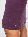 Юбка миди трикотажная oodji для женщины (фиолетовый), 14101105/48037/8800N
