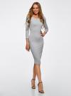 Комплект платьев с вырезом-лодочкой (3 штуки) oodji #SECTION_NAME# (серый), 14017001T3/47420/2000M - вид 2