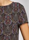 Блузка вискозная свободного силуэта oodji #SECTION_NAME# (черный), 21411119M/26346/2945E - вид 5