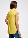 Топ базовый хлопковый oodji для женщины (желтый), 11401250B/45510/5100N