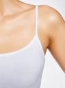 Комплект маек на тонких бретелях (2 штуки) oodji для женщины (белый), 14305023T2/46147/1000N