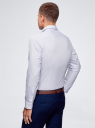 Рубашка приталенная с графическим принтом oodji #SECTION_NAME# (синий), 3L310120M/34156N/1070G - вид 3