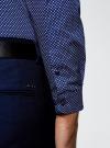 Рубашка принтованная из хлопка oodji #SECTION_NAME# (синий), 3B110027M/19370N/7510G - вид 5