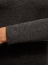 Платье трикотажное с длинным рукавом oodji #SECTION_NAME# (серый), 14011027/38261/2500M - вид 5
