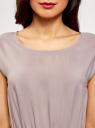 Платье вискозное без рукавов oodji #SECTION_NAME# (серый), 11910073B/26346/2300N - вид 4