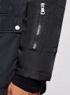 Парка с капюшоном и накладными карманами oodji #SECTION_NAME# (синий), 1L422002M/48600N/7900N - вид 5