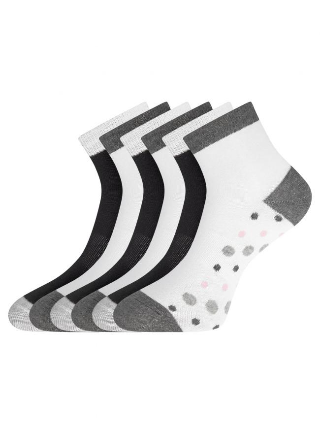 Комплект из шести пар носков oodji для женщины (разноцветный), 57102418-6T6/47469/1