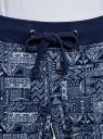 Брюки трикотажные на завязках oodji для женщины (синий), 16701042-1/46919/7910G