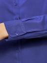 Блузка базовая из вискозы oodji для женщины (синий), 11411136B/26346/7503N