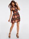 Платье принтованное из вискозы oodji #SECTION_NAME# (разноцветный), 11900191/26346/2959E - вид 6