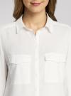 Блузка базовая из вискозы oodji #SECTION_NAME# (белый), 11400355-5/26346/1200N - вид 4