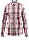Рубашка приталенная с контрастной отделкой oodji #SECTION_NAME# (красный), 13K01002/47400/1249C