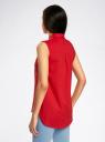 Топ базовый хлопковый oodji для женщины (красный), 11401250B/45510/4500N