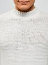 Джемпер фактурный свободного силуэта oodji #SECTION_NAME# (белый), 4L303016M/47241N/1200N - вид 4
