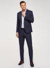 Пиджак однобортный на пуговицах oodji для мужчины (синий), 2L420281M-1/49819N/7975S - вид 6