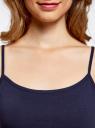 Комплект маек на тонких бретелях (2 штуки) oodji для женщины (синий), 14305023T2/46147/7900N