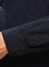 Рубашка трикотажная из фактурной ткани oodji #SECTION_NAME# (синий), 5L902005M/47164N/7900N - вид 5