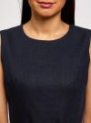 Платье льняное без рукавов oodji #SECTION_NAME# (синий), 12C00002-1B/16009/7900N - вид 4