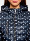 Куртка удлиненная с асимметричным низом oodji #SECTION_NAME# (синий), 10203056-2B/42257/7930A - вид 4
