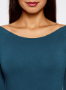 Платье с вырезом-лодочкой (комплект из 2 штук) oodji #SECTION_NAME# (синий), 14017001T2/47420/7901N - вид 4