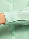 Блузка базовая из вискозы oodji #SECTION_NAME# (зеленый), 11411136B/26346/6501N - вид 5