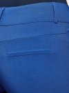 Брюки стретч узкие oodji для женщины (синий), 11700212B/14007/7500N - вид 4