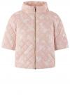 Куртка стеганая принтованная oodji #SECTION_NAME# (розовый), 10207002-1/45419/4012F