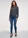 Блузка из струящейся ткани с нагрудными карманами oodji #SECTION_NAME# (синий), 11401278/36215/7930E - вид 6
