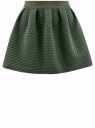 Юбка из фактурной ткани на эластичном поясе oodji #SECTION_NAME# (зеленый), 14100019-2/45990/6900N