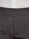 Брюки зауженные на эластичном поясе oodji для женщины (серый), 11703091B/18600/2500M