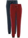 Комплект трикотажных брюк (2 пары) oodji для женщины (разноцветный), 16700030-15T2/47906/19IYN